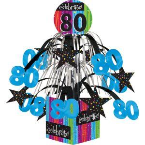 Colorful Celebrate 80 Cascade Centerpiece