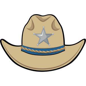Yeehaw Western Cowboy Hat Cutout