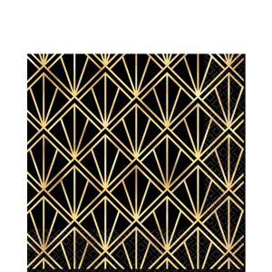 Metallic Hollywood Lunch Napkins 16ct