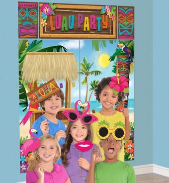 Luau Photo Booth Kit with Props