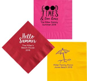 Personalized Summer Dinner Napkins