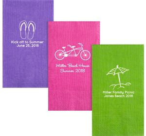Personalized Summer Moire Guest Towels