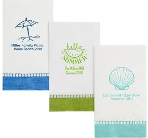 Personalized Summer Bordered Guest Towels