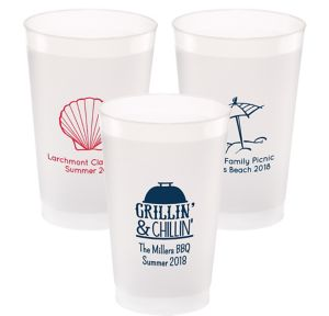 Personalized Summer Frosted Plastic Shatterproof Cups 24oz