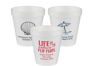 Personalized Summer Foam Cups 10oz