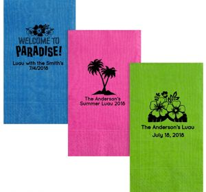 Personalized Luau Moire Guest Towels