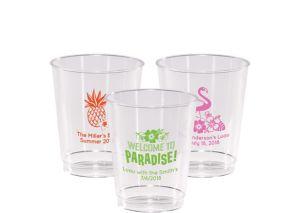 Personalized Luau Hard Plastic Cups 8oz