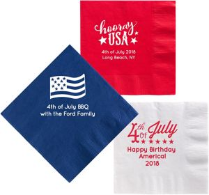 Personalized 4th of July Dinner Napkins