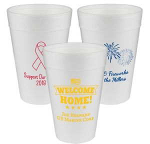 Personalized 4th of July Foam Cups 32oz