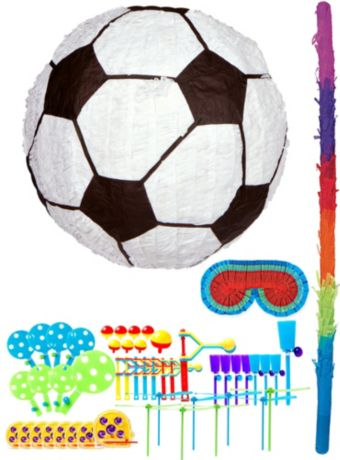 Soccer Pinata Kit with Favors