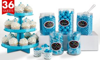 Caribbean Blue Sweets & Treats Kit for 36 Guests