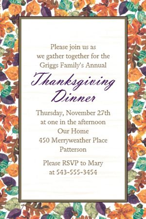 Custom Autumn Leaves Invitation