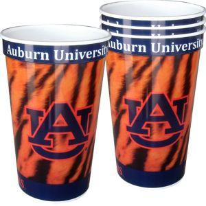Auburn Tigers Plastic Cups 4ct