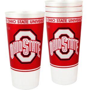 Ohio State Buckeyes Plastic Cups 4ct