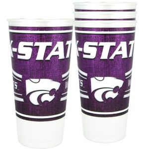 Kansas State Wildcats Plastic Cups 4ct