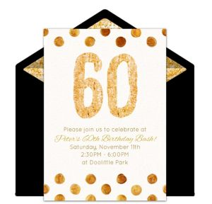 Online Golden 60 Invitations