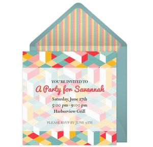 Online Graphic Pattern Invitations