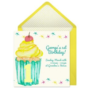 Online First Cupcake Invitations
