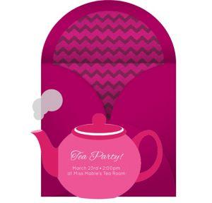 Online Tea Pot Invitations