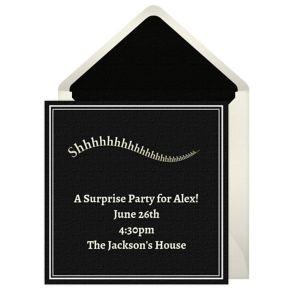 Online Shhhhhhh Invitations