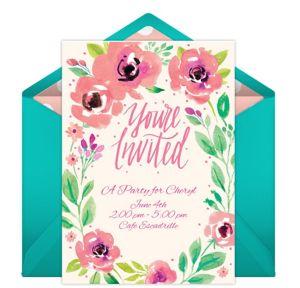 Online Summer Blossoms Invitations