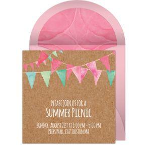 Online Modern Summer Picnic Invitations