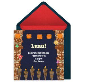 Online Luau Invitations