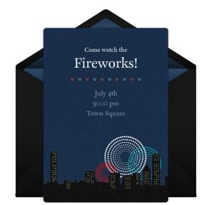 Online Fireworks Invitations