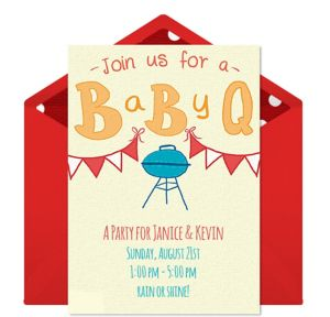 Online BabyQ Invitations