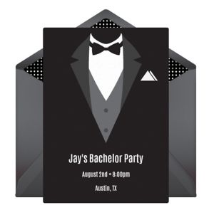 Online Tuxedo Invitations