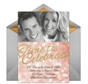 Online Time to Celebrate - Gray Photo Invitations