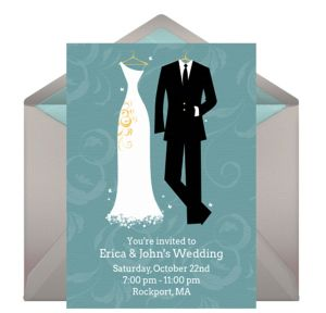 Online Bride and Groom Invitations