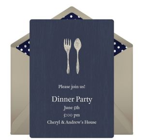 Online Fork Spoon Invitations