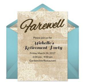 Online Farewell Invitations