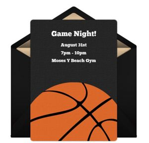 Online B-Ball Invitations