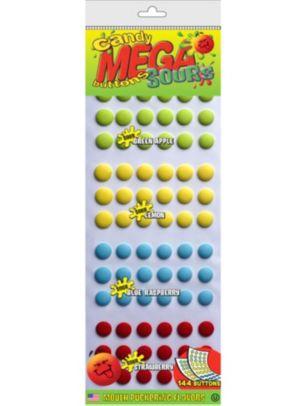 Mega Sour Candy Buttons 144pc
