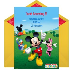Online Mickey Mouse Clubhouse Invitations