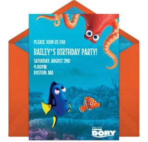 Online Finding Dory Friends Invitations