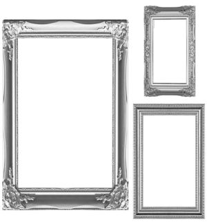 Silver Photo Booth Frames 3ct