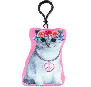 Clip-On Peace Cat Plush
