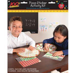 Pizza Sticker Activity Kits 12ct