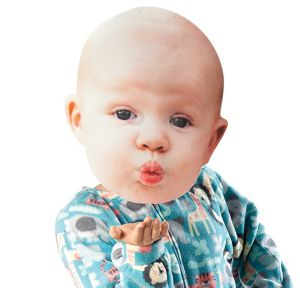Adult Oversized Kissy Face Baby Mask
