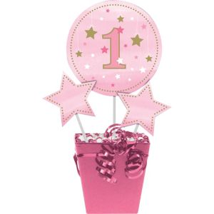Pink Twinkle Twinkle Little Star 1st Birthday Centerpiece Sticks 3ct