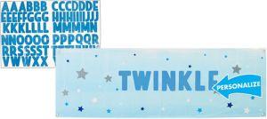Giant Blue Twinkle Twinkle Little Star Personalized Banner Kit