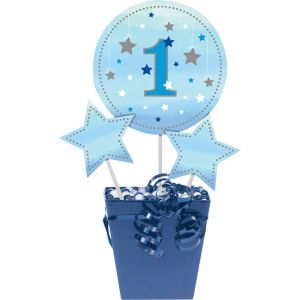 Blue Twinkle Twinkle Little Star 1st Birthday Centerpiece Sticks 3ct