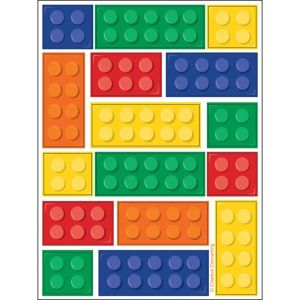 Building Blocks Stickers 4 Sheets