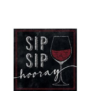 Sip Sip Hooray Beverage Napkins 16ct