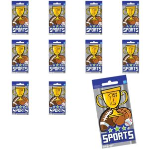 Jumbo Sports Stickers 24ct