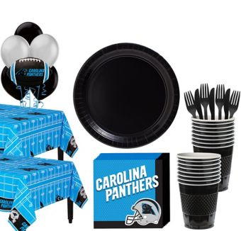 Carolina Panthers Deluxe Party kit for 36 Guests