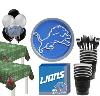 Detroit Lions Deluxe Party kit for 36 Guests